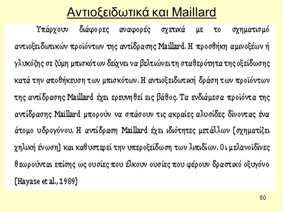 50 Αντιοξειδωτικά και Maillard