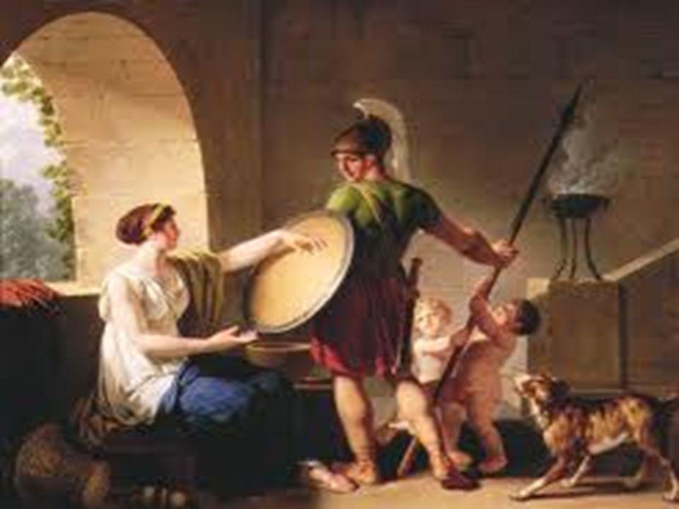 Η ΘΕΣΗ ΤΗΣ ΓΥΝΑΙΚΑΣ ΣΤΗ ΣΠΑΡΤΗ  Ο Άνδρας έλειπε πολύ καιρό από σπίτι με αποτέλεσμα η γυναίκα να έχει αυξημένα προνόμια και αρμοδιότητες στη σπαρτιατική κοινωνία.