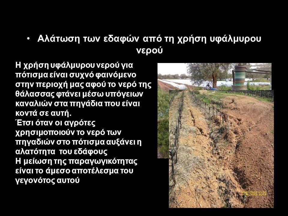 Αγροτική υπερεκμετάλλευση του εδάφους.