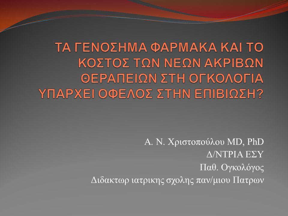 Α. Ν. Χριστοπούλου MD, PhD Δ/ΝΤΡΙΑ ΕΣΥ Παθ. Ογκολόγος Διδακτωρ ιατρικης σχολης παν/μιου Πατρων