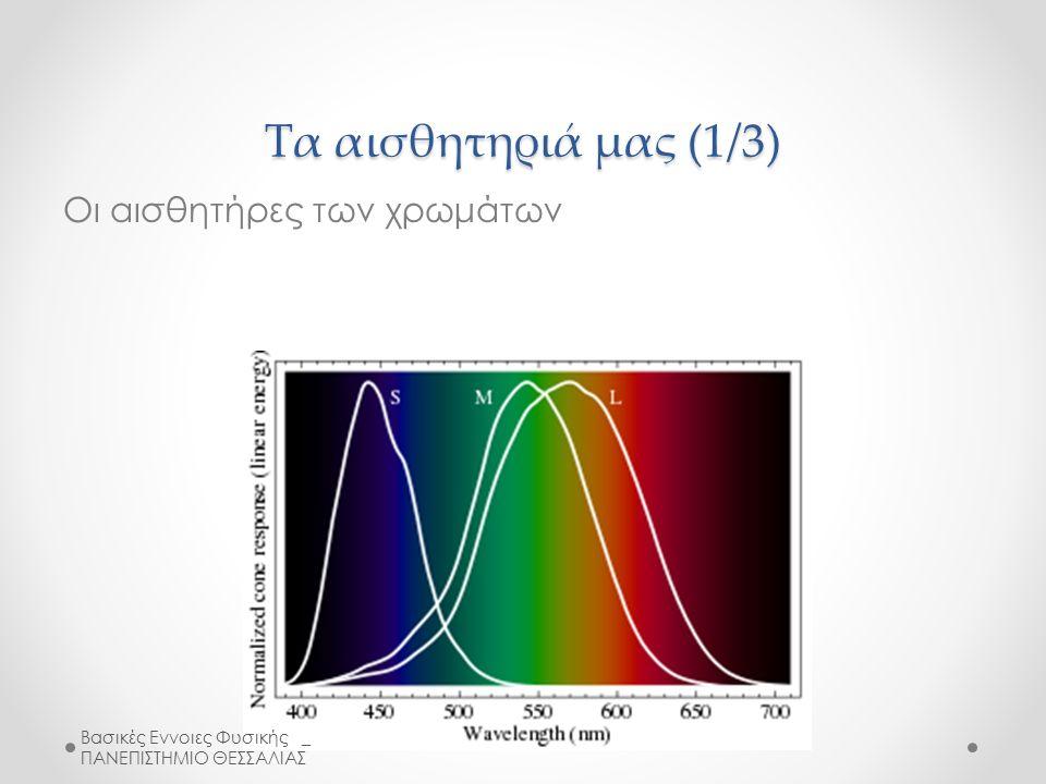 Τα αισθητηριά μας (1/3) Οι αισθητήρες των χρωμάτων Βασικές Εννοιες Φυσικής _ ΠΑΝΕΠΙΣΤΗΜΙΟ ΘΕΣΣΑΛΙΑΣ