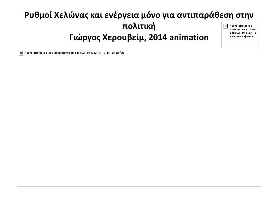 Ρυθμοί Χελώνας και ενέργεια μόνο για αντιπαράθεση στην πολιτική Γιώργος Χερουβείμ, 2014 animation