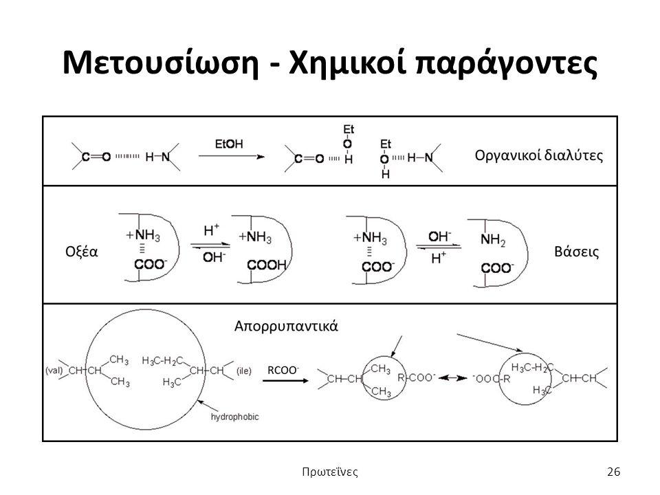 Μετουσίωση - Χημικοί παράγοντες Πρωτεΐνες26