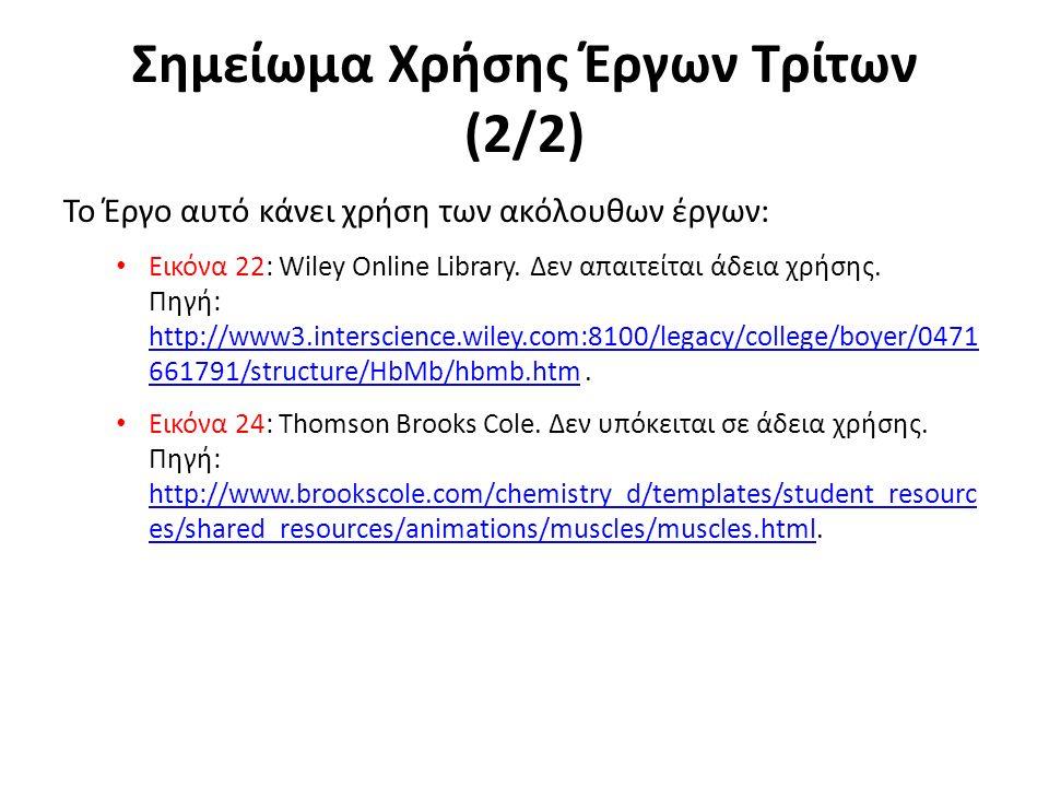 Σημείωμα Χρήσης Έργων Τρίτων (2/2) Το Έργο αυτό κάνει χρήση των ακόλουθων έργων: Εικόνα 22: Wiley Online Library.