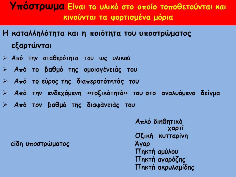 ΡΥΘΜΙΣΤΙΚΑ ΔΙΑΛΥΜΑΤΑ(buffers)  Καλοί αγωγοί του ηλεκτρισμού  Διασφαλίζουν συνθήκες σταθερού (προεπιλεγόμενου) pH  Βαρβιτουρικά  TRIS-EDTA TAE (TRIS/ACEΤATE/EDTA) TBE (TRIS/BORATE/EDTA)
