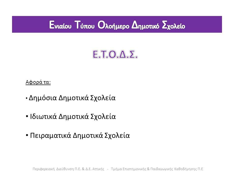 Δομή ημερήσιου προγράμματος στο Ε.Τ.Ο.Δ.Σ.