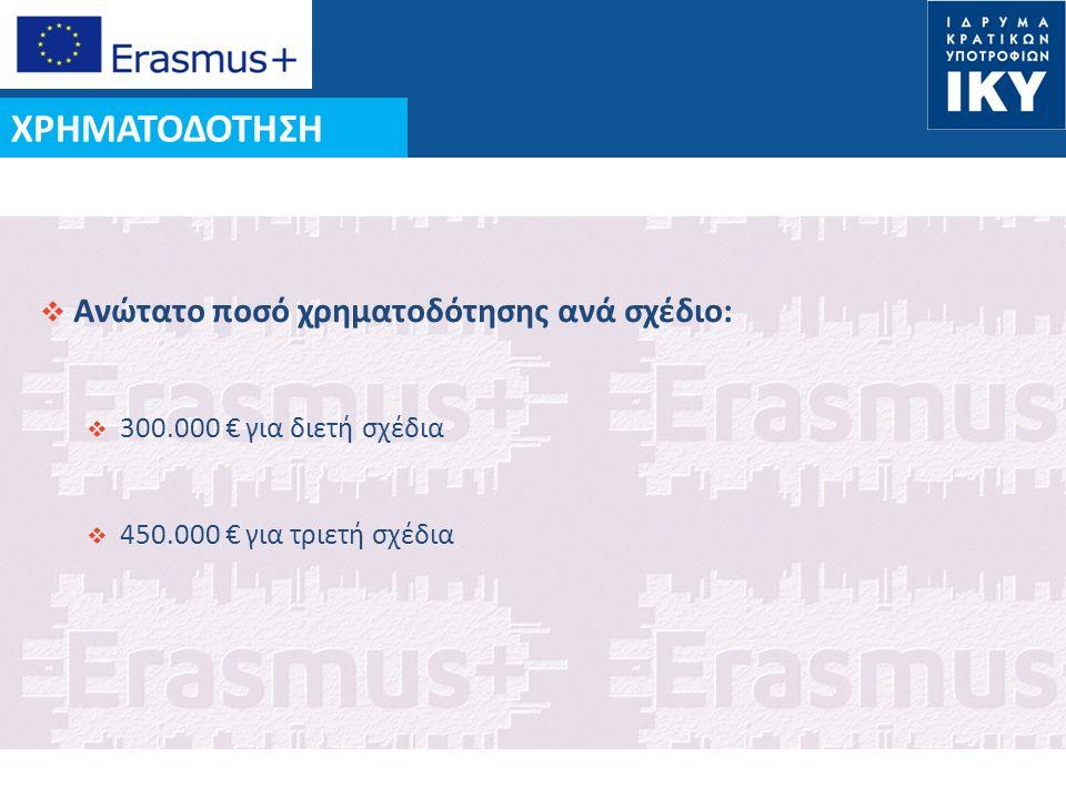 Date: in 12 pts  Ανώτατο ποσό χρηματοδότησης ανά σχέδιο:  300.000 € για διετή σχέδια  450.000 € για τριετή σχέδια ΧΡΗΜΑΤΟΔΟΤΗΣΗ