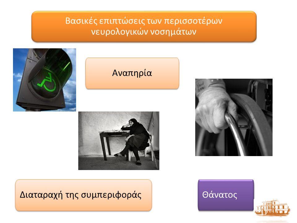 Βασικές επιπτώσεις των περισσοτέρων νευρολογικών νοσημάτων Αναπηρία Διαταραχή της συμπεριφοράς Θάνατος