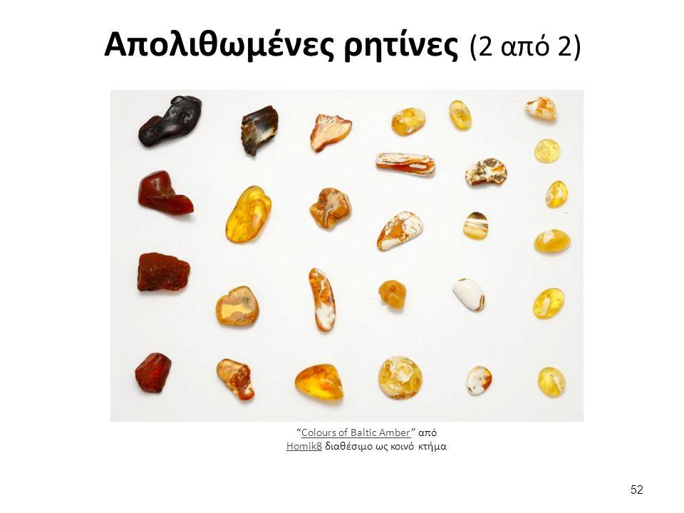 Απολιθωμένες ρητίνες (2 από 2) 52 Colours of Baltic Amber από Homik8 διαθέσιμο ως κοινό κτήμαColours of Baltic Amber Homik8