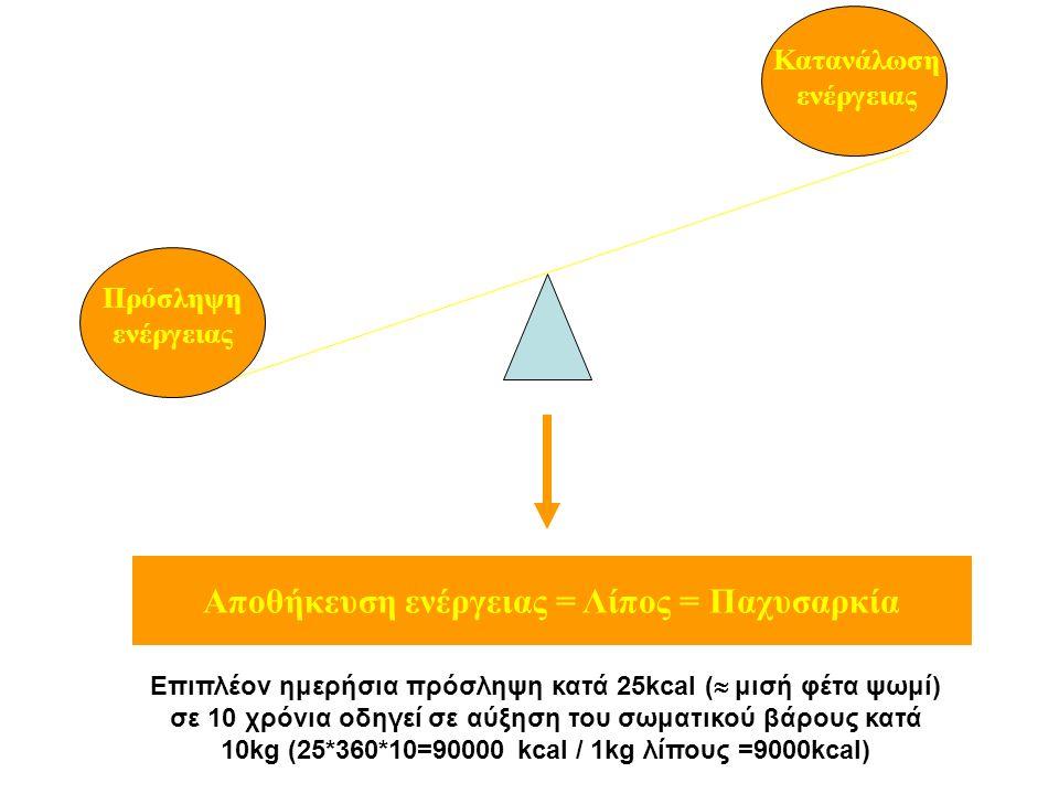 Ημερήσια κατανάλωση ενέργειας Levine et al, Best Practice & Research 2002