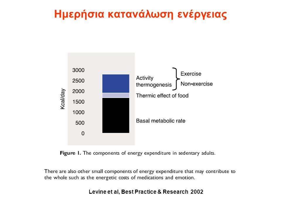 Βασικός Μεταβολικός ρυθμός (Basal Metabolic Rate - BMR) Η ενέργεια που καταναλώνεται σε όταν ένα άτομο μόλις έχει ξυπνήσει, είναι σε ηρεμία, ύπτια θέση, νηστικό, και σε ουδέτερη θερμοκρασία.