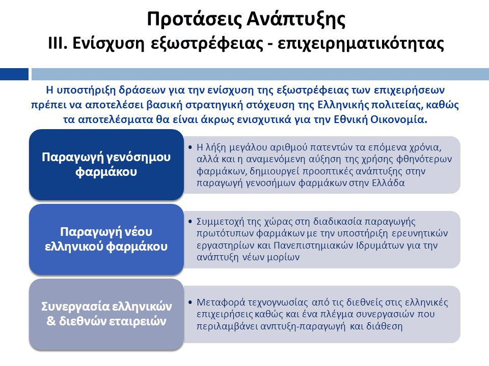 Προτάσεις Ανάπτυξης ΙΙΙ.