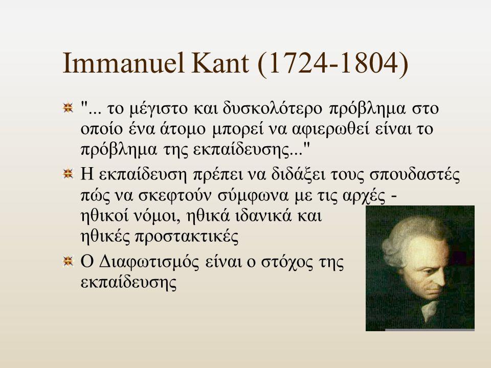 Immanuel Kant (1724-1804) ...