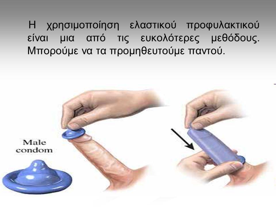 Η χρησιμοποίηση ελαστικού προφυλακτικού είναι μια από τις ευκολότερες μεθόδους. Μπορούμε να τα προμηθευτούμε παντού.