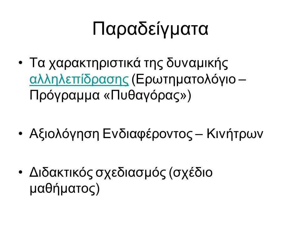 Μέθοδος Αναλύουμε τους διαλόγους μ.ή φ. μεταξύ τους ή και με τον εκπαιδευτικό.