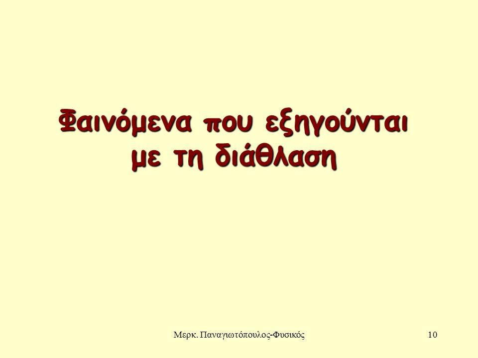 Μερκ. Παναγιωτόπουλος-Φυσικός10 Φαινόμενα που εξηγούνται με τη διάθλαση