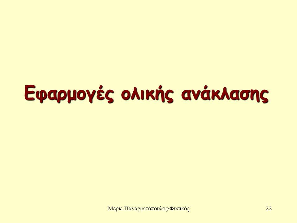 Μερκ. Παναγιωτόπουλος-Φυσικός22 Εφαρμογές ολικής ανάκλασης