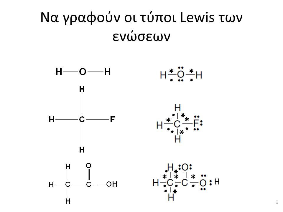 Ενέργεια δεσμού ΔεσμόςΜήκος, (pm)Ενέργεια, (kJ/mol) H — Υδρογόνο H–H74436 H–O96366 H–F92568 H–Cl127432 C — Άνθρακας C–H109413 C–C154348 C–C=151 =C–C≡147 =C–C=148 C=C134614 C≡C120839 C–N147308 C–O143360 C–F134488 C–Cl177330 N — Άζωτο N–H101391 N–N145170 N≡N110945 O — Οξυγόνο O–O148145 O=O121498 F, Cl, Br, I — Αλογόντα F–F142158 Cl–Cl199243 Br–H141366 Br–Br228193 I–H161298 I–I267151 7