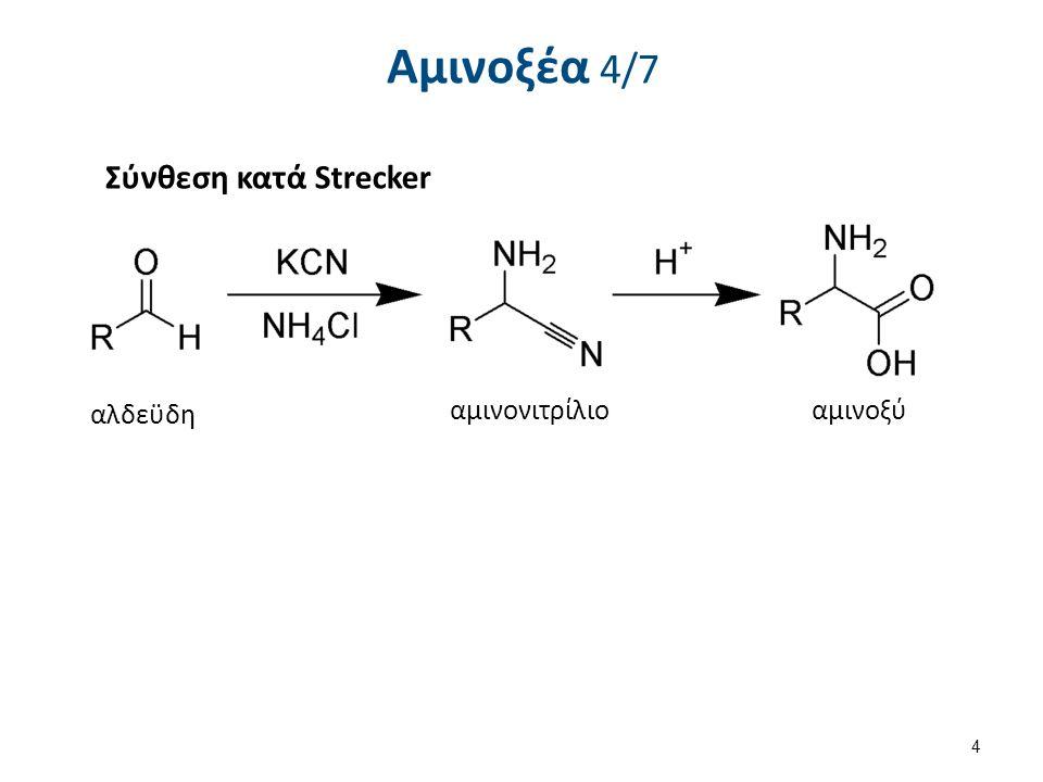 Ανίχνευση αμινοξέων Αντίδραση νινυδρίνης 2/2 Στην περίπτωση της προλίνης και της υδροξυπρολίνης σχηματίζεται παράγωγο κίτρινου χρώματος λόγω απουσίας πρωτοταγούς αμινομάδας.