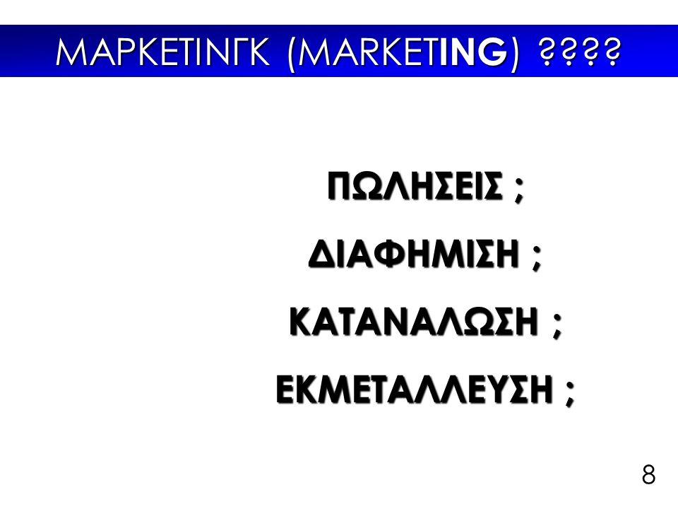 Τι είναι το MARKETING ;;; Born consume die I shop therefore I exist 9 http://designobserver.com/feature/obsessive-branding-disorder-ii/7827/