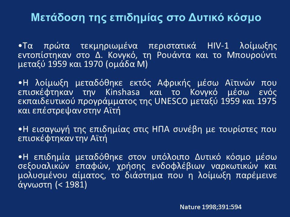 Τα πρώτα τεκμηριωμένα περιστατικά HIV-1 λοίμωξης εντοπίστηκαν στo Δ.