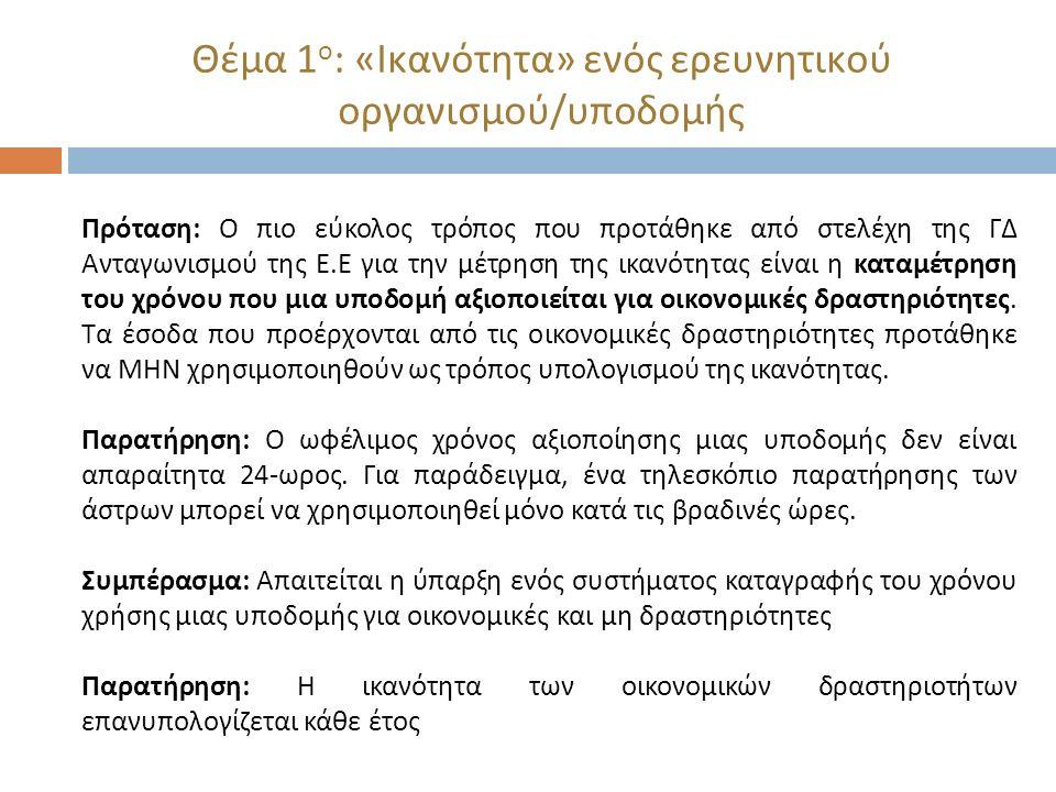 Θέμα 2 ο : Έρευνα στον τομέα των υδατοκαλλιεργειών και την πρωτογενή αγροτική παραγωγή Άρθρο 1- Κανονισμός 651/2014: Πεδίο εφαρμογής Ο παρών κανονισμός δεν εφαρμόζεται : α ) στις ενισχύσεις που χορηγούνται στον τομέα της αλιείας και υδατοκαλλιέργειας, … με εξαίρεση τις ενισχύσεις για επαγγελματική κατάρτιση, τις ενισχύσεις για πρόσβαση των ΜΜΕ σε χρηματοδότηση, τις ενισχύσεις στον τομέα της έρευνας και ανάπτυξης, τις ενισχύσεις καινοτομίας προς ΜΜΕ και τις ενισχύσεις για εργαζομένους σε μειονεκτική θέση και εργαζομένους με αναπηρία β ) στις ενισχύσεις που χορηγούνται στον τομέα της πρωτογενούς γεωργικής παραγωγής, με εξαίρεση την αντιστάθμιση άλλων επιπρόσθετων δαπανών, πλην των δαπανών μεταφοράς στις εξόχως απόκεντρες περιοχές, που προβλέπονται στο άρθρο 15 παράγραφος 2 στοιχείο β ), τις ενισχύσεις για την παροχή συμβουλευτικών υπηρεσιών σε ΜΜΕ, τις ενισχύσεις χρηματοδότησης επιχειρηματικού κινδύνου, τις ενισχύσεις για έρευνα και ανάπτυξη, τις ενισχύσεις καινοτομίας προς τις ΜΜΕ, τις ενισχύσεις για την προστασία του περιβάλλοντος, τις ενισχύσεις για επαγγελματική κατάρτιση και τις ενισχύσεις για εργαζομένους σε μειονεκτική θέση και εργαζομένους με αναπηρία·