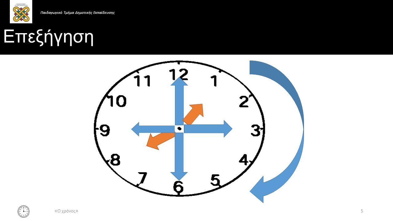 Επεξήγηση 5 « Ο χρόνος » Παιδαγωγικό Τμήμα Δημοτικής Εκπαίδευσης