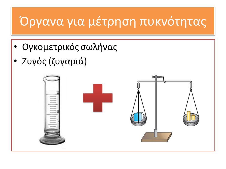 Όργανα για μέτρηση πυκνότητας Ογκομετρικός σωλήνας Ζυγός (ζυγαριά)