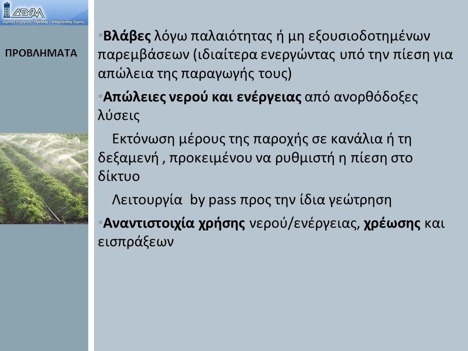 ΑΡΧΙΚΗ ΚΑΤΑΣΤΑΣΗ ΕΓΚΑΤΑΣΤΑΣΕΩΝ ΑΡΔΕΥΣΗΣ