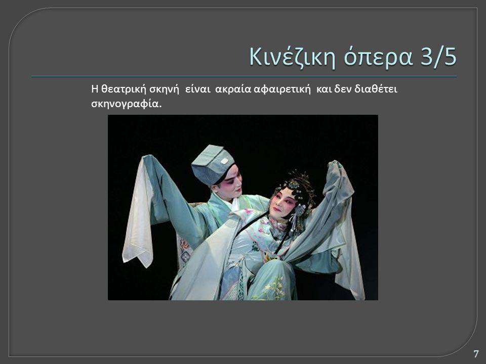 Η θεατρική σκηνή είναι ακραία αφαιρετική και δεν διαθέτει σκηνογραφία. 7
