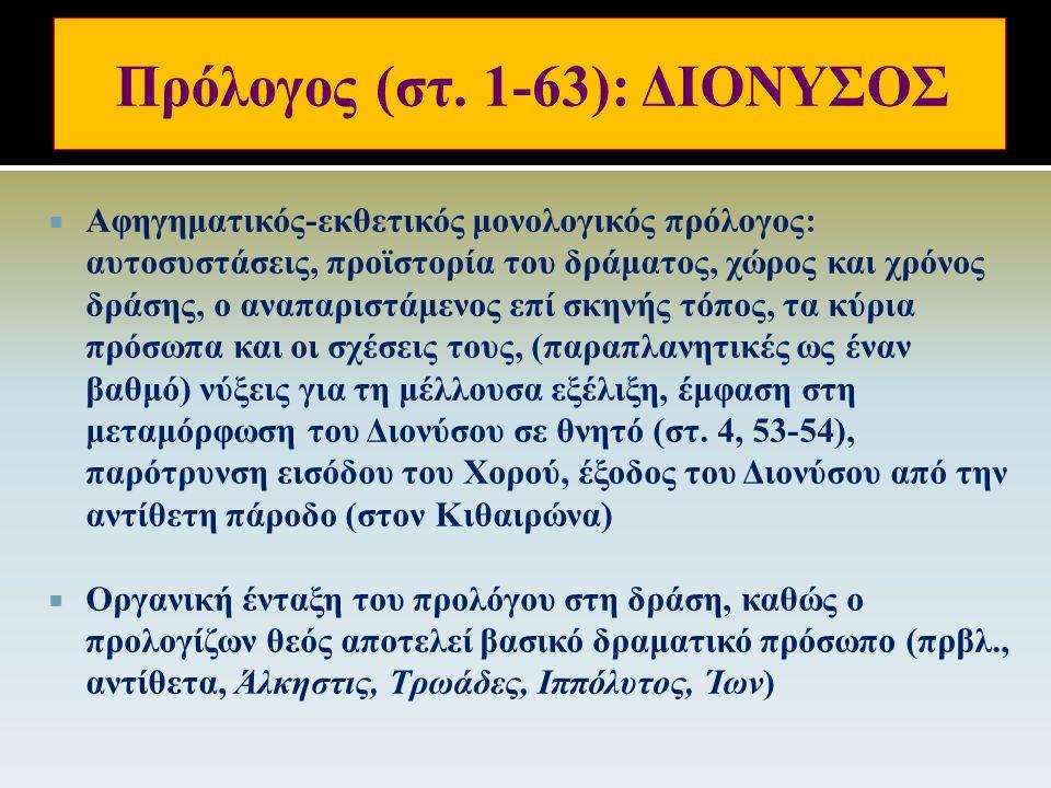 Eικόνα 6: Βάκχες, σκηνοθεσία: Θεόδωρος Τερζόπουλος, 2002