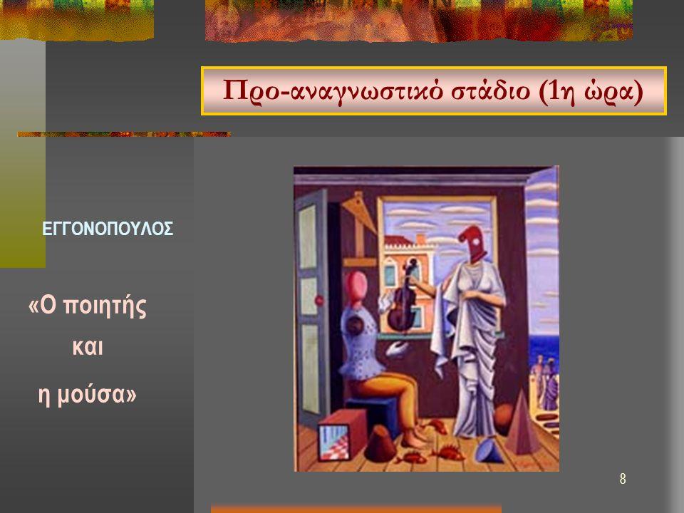 8 Προ-αναγνωστικό στάδιο (1η ώρα) «Ο ποιητής και η μούσα» ΕΓΓΟΝΟΠΟΥΛΟΣ