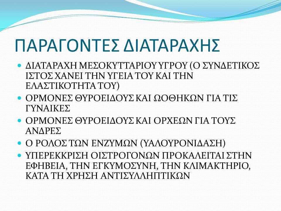 ΣΤΑΔΙΟ 3: ΦΑΝΕΡΗ ΠΡΟΠΤΩΣΗ ΔΕΡΜΑΤΟΣ ΣΕ ΟΡΘΙΑ ΚΑΙ ΥΠΤΙΑ ΘΕΣΗ, ΣΥΧΝΟ ΣΕ ΓΥΝΑΙΚΕΣ ΣΤΗΝ ΕΜΜΗΝΟΠΑΥΣΗ ΚΑΙ ΣΤΗΝ ΠΑΧΥΣΑΡΚΙΑ, ΔΕΡΜΑ ΡΥΤΙΔΩΜΕΝΟ ΚΑΙ ΧΑΛΑΡΟ, ΜΕ ΣΚΛΗΡΑ ΟΖΙΔΙΑ, ΕΚΧΥΜΩΣΕΙΣ ΚΑΙ ΕΜΠΙΕΣΜΑΤΑ ΜΕ ΚΑΤΕΣΤΡΑΜΜΕΝΕΣ ΙΝΕΣ, Η ΟΛΟΚΛΗΡΩΤΙΚΗ ΘΕΡΑΠΕΙΑ ΕΙΝΑΙ ΑΔΥΝΑΤΗ, ΑΠΟΤΕΛΕΣΜΑΤΙΚΗ ΜΟΝΟ Η ΧΕΙΡΟΥΡΓΙΚΗ ΕΠΕΜΒΑΣΗ