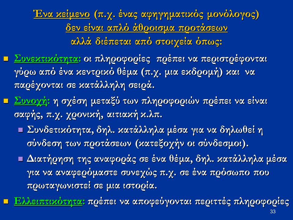 33 Ένα κείμενο (π.χ.