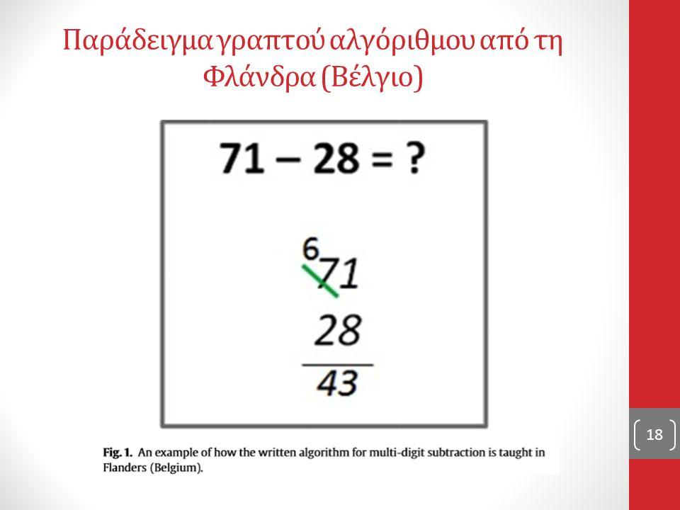 Παράδειγμα γραπτού αλγόριθμου από τη Φλάνδρα (Βέλγιο) 18