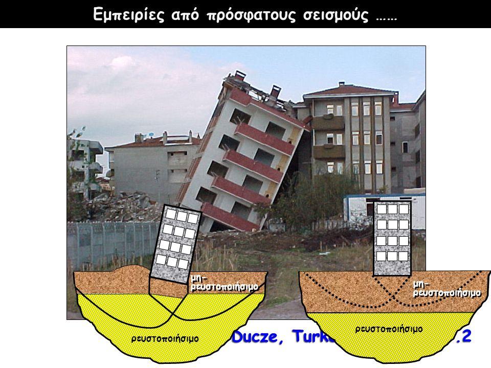 Ducze, Turkey (1999), M=7.2 ρευστοποιήσιμο μη- ρευστοποιήσιμο μη- ρευστοποιήσιμο μη- ρευστοποιήσιμο μη- ρευστοποιήσιμο Εμπειρίες από πρόσφατους σεισμούς ……