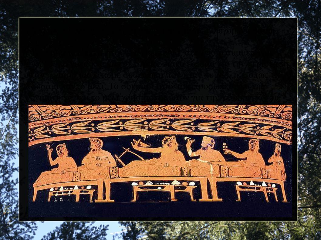 ● Ύστερα ακολουθούσε το τραπέζι του γάμου, η λεγόμενη θοίνη. ● Το γαμήλιο δείπνο ήταν ένα συμπόσιο, στο οποίο συμμετείχαν άνδρες και γυναίκες και το π