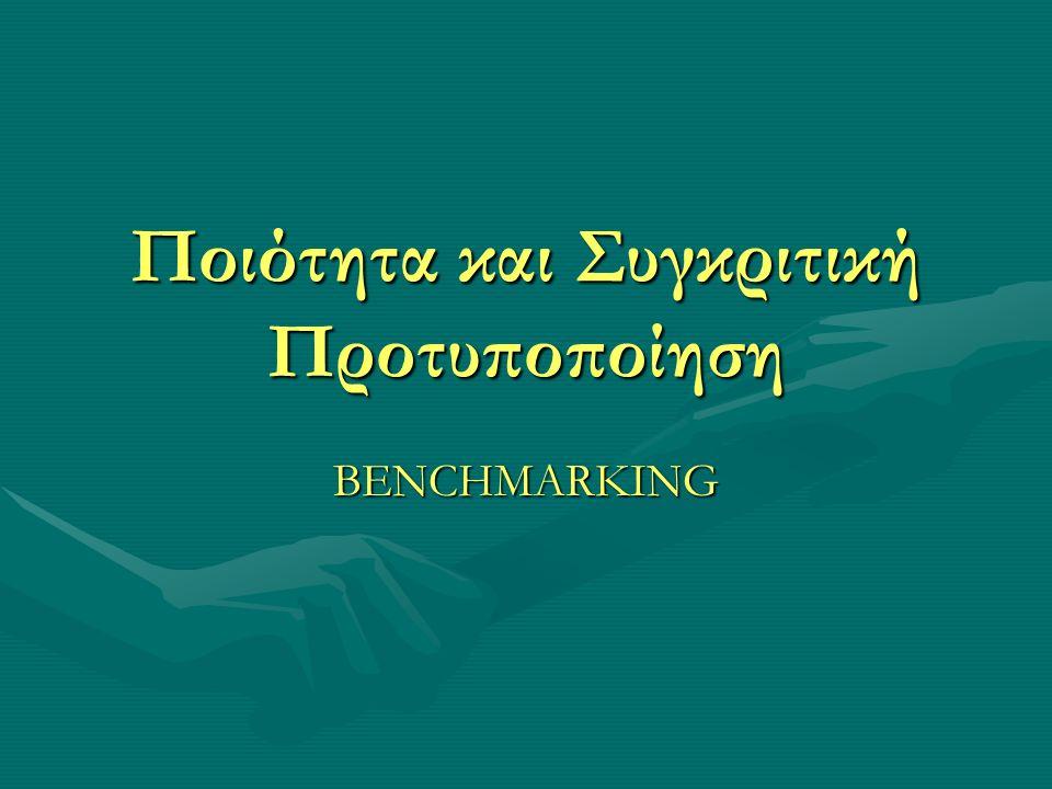 Κατηγοριοποιήσεις της συγκριτικής προτυποποίησης Η εσωτερική αναφέρεται στη μελέτη επιτυχημένων διαδικασιών που εφαρμόζονται σε τμήματα ή διευθύνσεις μιας επιχείρησης με σκοπό την επέκταση της εφαρμογής τους και στο σύνολο των τμημάτων ή διευθύνσεων της επιχείρησης.Η εσωτερική αναφέρεται στη μελέτη επιτυχημένων διαδικασιών που εφαρμόζονται σε τμήματα ή διευθύνσεις μιας επιχείρησης με σκοπό την επέκταση της εφαρμογής τους και στο σύνολο των τμημάτων ή διευθύνσεων της επιχείρησης.
