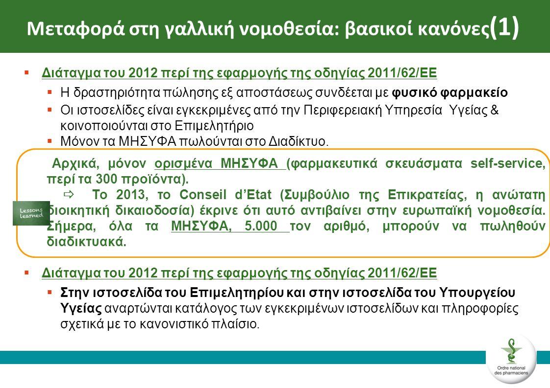 ►Κανονισμός του 2013 περί τις Καλές πρακτικές στη διάθεση μέσω Διαδικτύου [ανεβλήθη] Ο κανονισμός ανεβλήθη από το Conseil d'Etat για διαδικαστικούς λόγους.