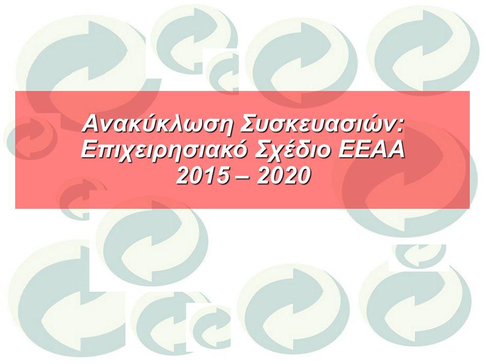 Ανακύκλωση Συσκευασιών: Επιχειρησιακό Σχέδιο ΕΕΑΑ 2015 – 2020
