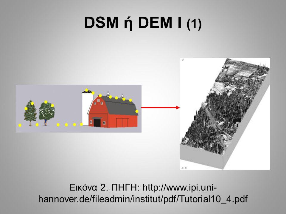 DSM ή DEM Ι (2) Εικόνα 3.