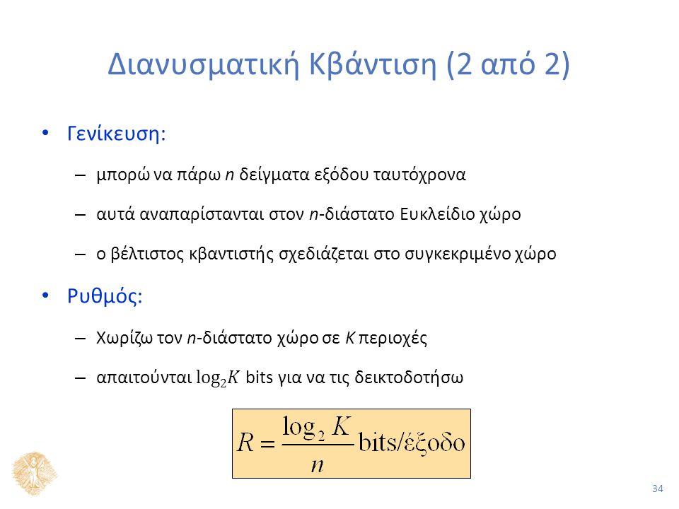 34 Διανυσματική Κβάντιση (2 από 2)