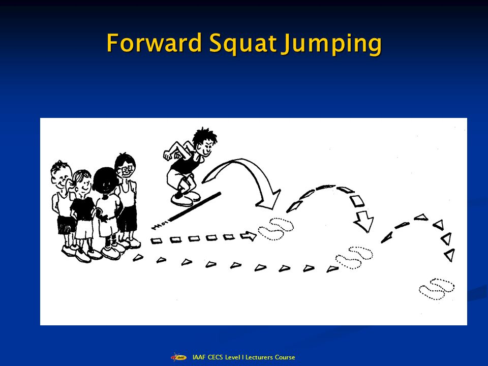 IAAF CECS Level I Lecturers Course Forward Squat Jumping