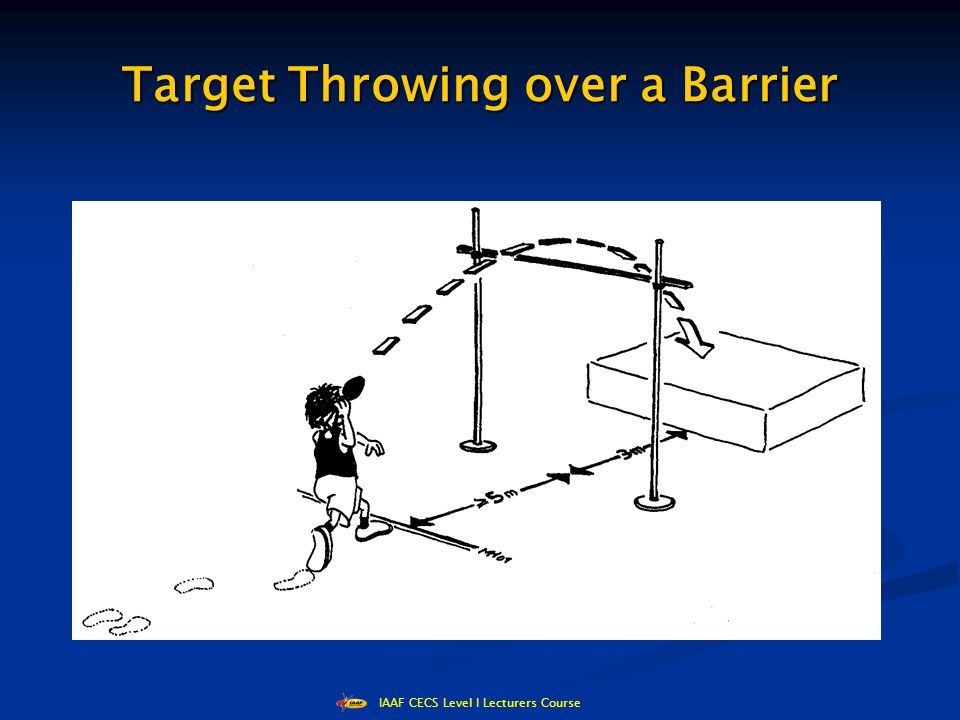 IAAF CECS Level I Lecturers Course Target Throwing over a Barrier
