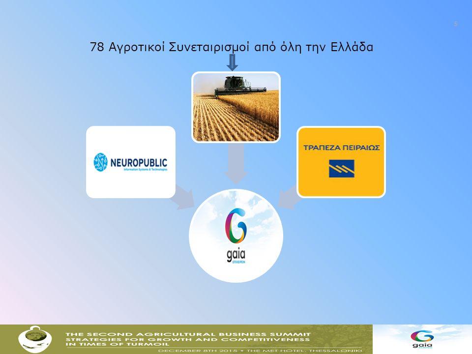 6 ΑΠΟΣΤΟΛΗ ΤΗΣ GAIA ΕΠΙΧΕΙΡΕΙΝ Η παροχή ολοκληρωμένων υπηρεσιών στους παραγωγούς και τις οργανώσεις τους, σε όλο το φάσμα των δραστηριοτήτων τους, διαμέσου : 93 Κέντρων εξυπηρέτησης αγροτών σε όλη τη Χώρα και ενός τεχνολογικού διαύλου παροχής ηλεκτρονικών υπηρεσιών, με αξίες που αποκτούν βαρύνουσα σημασία