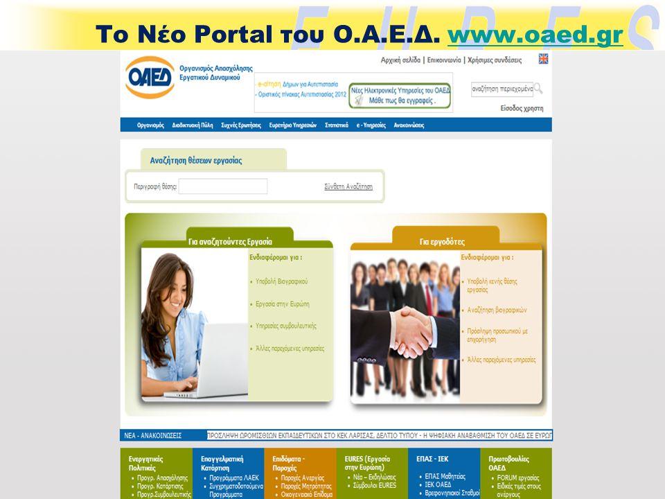 Το Νέο Portal του Ο.Α.Ε.Δ. www.oaed.grwww.oaed.gr