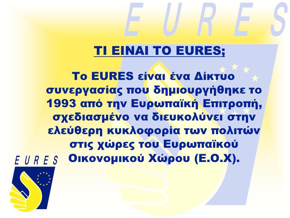 ● Δίκτυο Δημοσίων Οργανισμών Απασχόλησης.● Δίκτυο Συμβούλων EURES στις χώρες της Ε.Ο.Χ.