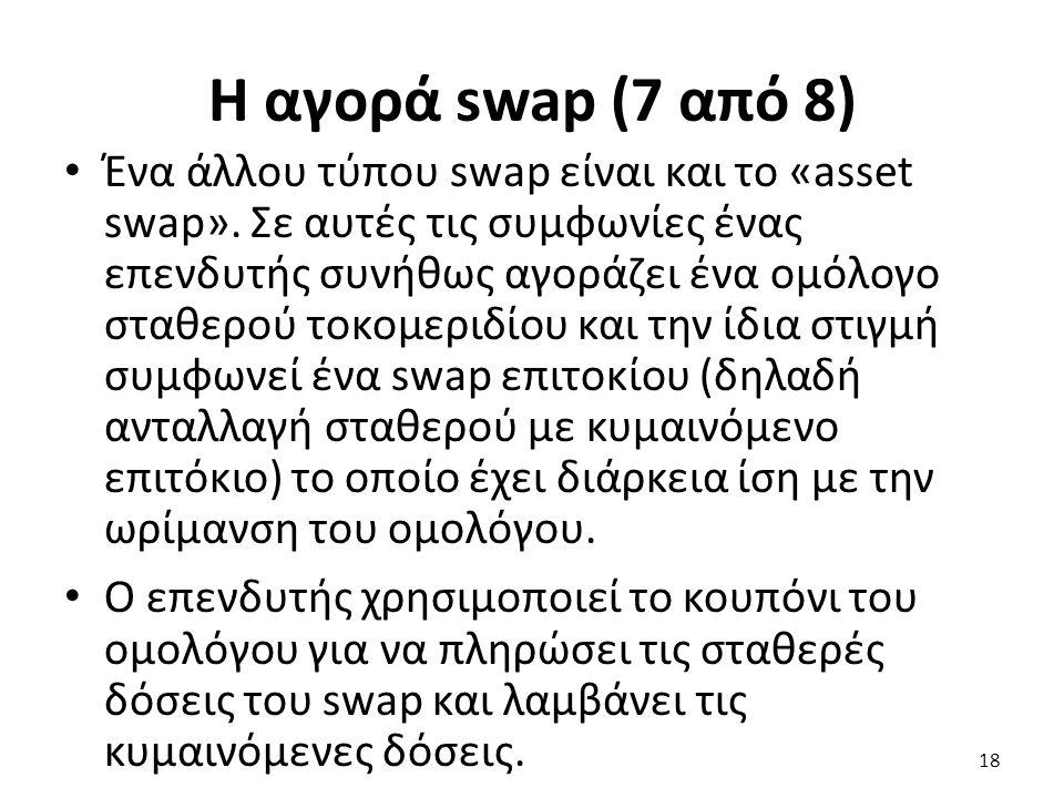 Η αγορά swap (7 από 8) Ένα άλλου τύπου swap είναι και το «asset swap».