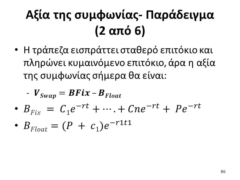 Αξία της συμφωνίας- Παράδειγμα (2 από 6) 86
