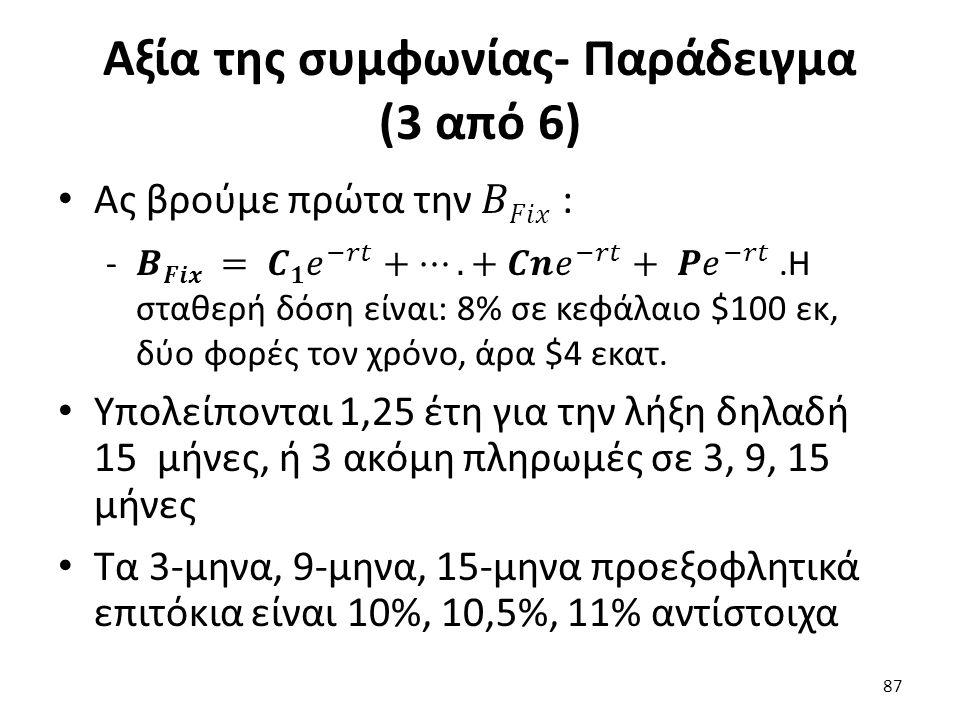 Αξία της συμφωνίας- Παράδειγμα (3 από 6) 87